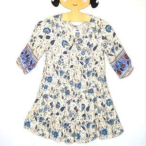 Old Navy girls peasant boho dress